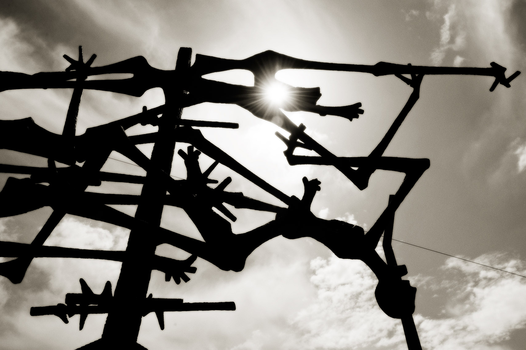 Electric Fence Sculpture