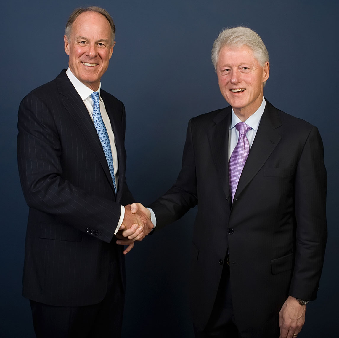 Visa President John Partridge and U.S. President Bill Clinton | Political Photography
