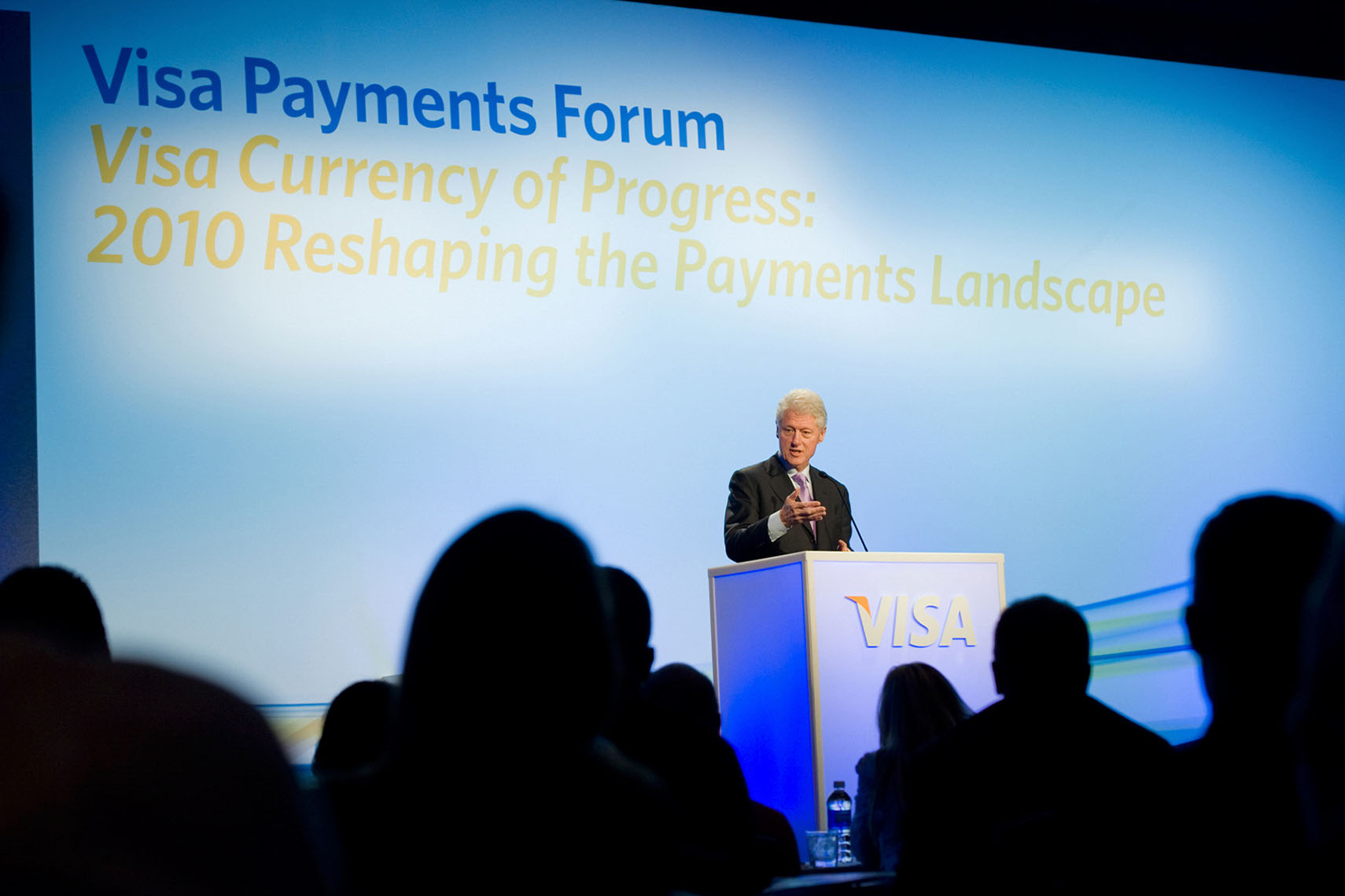 Bill Clinton at Visa Payments Forum