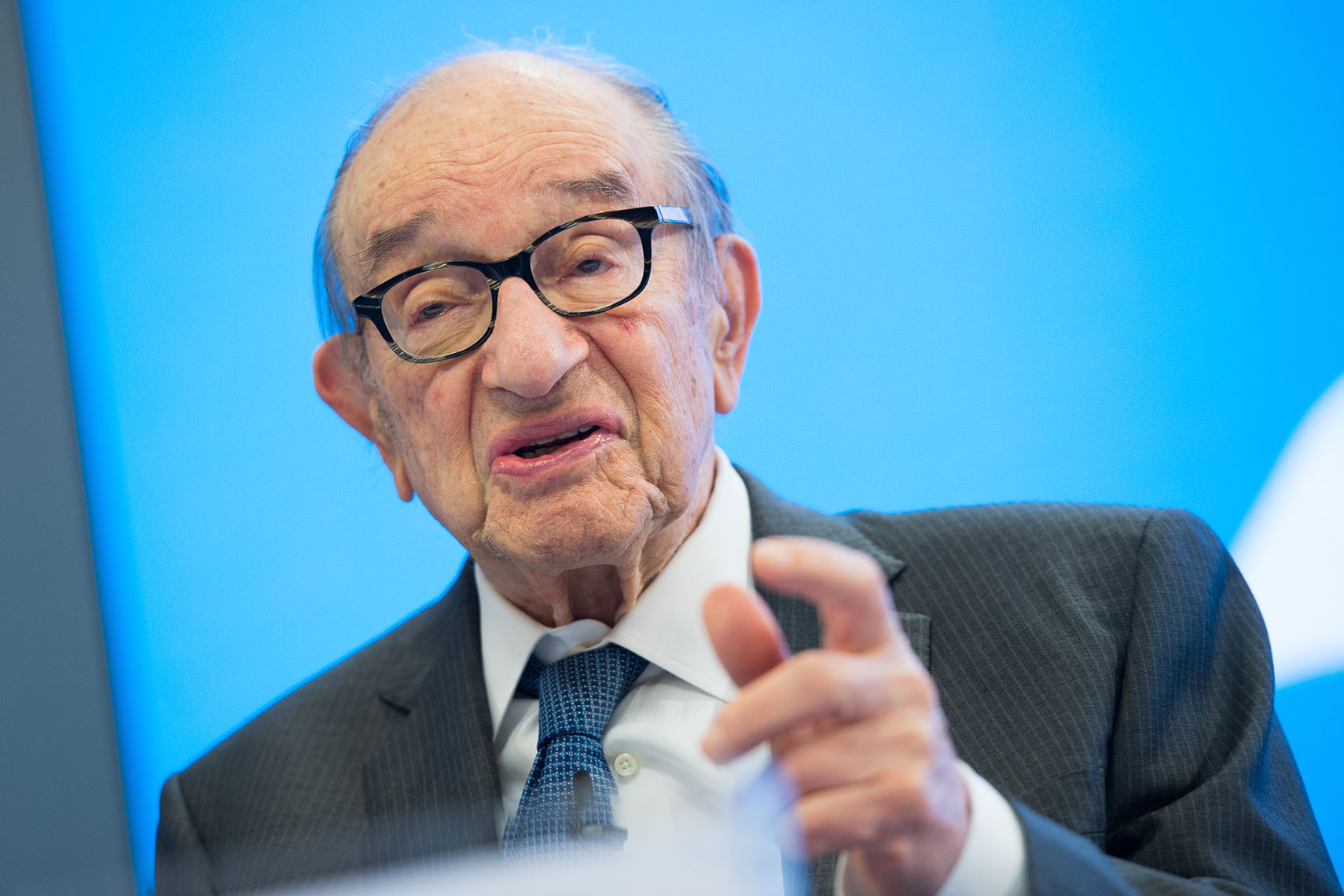 Federal Reserve Chairman Alan Greenspan Close-Up